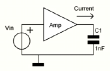 High voltage amplifier capacitive loading