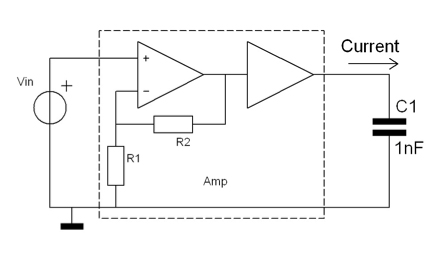High voltage amplifier improved circuit for high speed