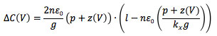 Comb drive actuator levitation theory, equation 2
