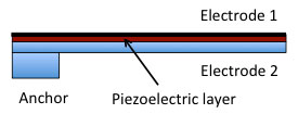 Out-of-plane piezoelectric MEMS actuator