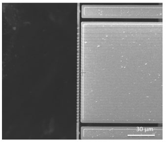 SOI MEMS actuation by charge deposition in the SEM