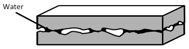 Capillary condensation causes an adhesion force between rough surfaces in contact
