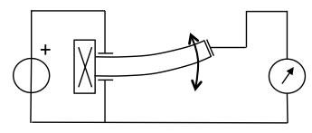 The piezo transformer acoustically transforms a low voltage into a high voltage